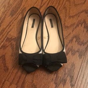 Forever 21 Peep Toe with Bow Flats